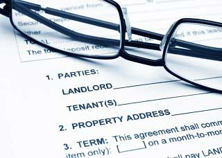 Glasses on a lease agreement