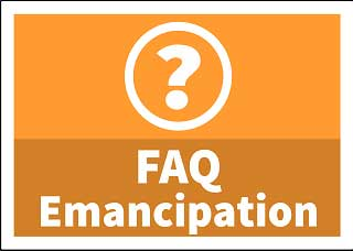 Emancipation Frequently Asked Questions button