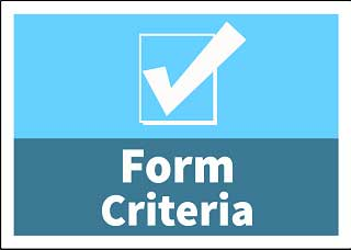 Image of a document for form criteria